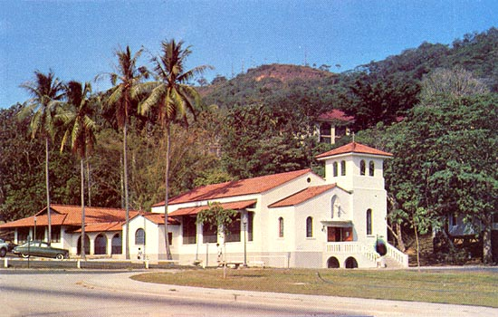 Sacred Heart Chapel in Ancon around 1950